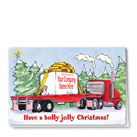 Trucking Christmas Cards - Packaged Greetings