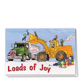 Construction Christmas Cards - Loads of Joy