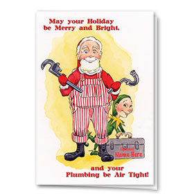 Construction Christmas Cards - Air Tight Plumbing