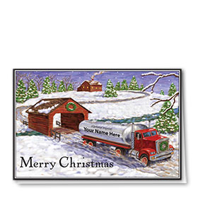 Trucking Christmas Cards - Covered Bridge