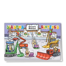 Construction Christmas Cards - Season's Rentings