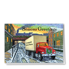 Trucking Christmas Cards - City Delivery