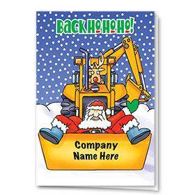 Construction Christmas Cards - Loading Santa