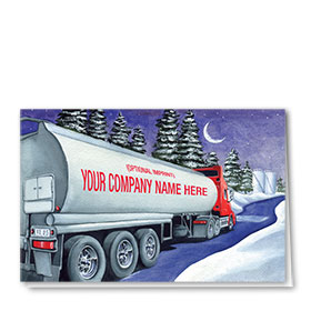 Trucking Christmas Cards - Midnight Tanker