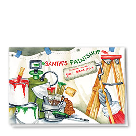 Construction Christmas Cards - Santa's Painshop
