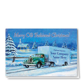 Trucking Christmas Cards - Old Fashioned Christmas