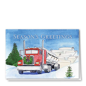 Trucking Christmas Cards - Tankery Delivery