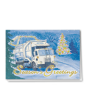 Construction Christmas Cards - Winter Refuse