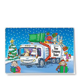 Construction Christmas Cards - Rudy's Refuse