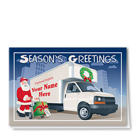 Trucking Christmas Cards - Christmas Delivery