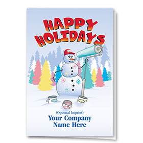 Construction Christmas Cards - Snowman Painter