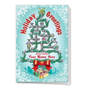 Construction Christmas Cards - Plumbing Tree