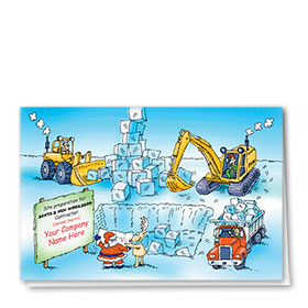 Construction Christmas Cards - Santa's Worksite