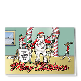 Construction Christmas Cards - Christmas Painters