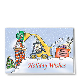 Construction Christmas Cards - Bobcat Helper