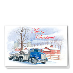 Trucking Christmas Cards - Eggnogg Express