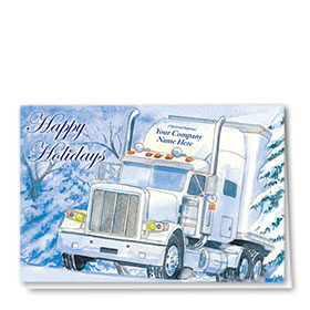Trucking Christmas Cards - Frosty Freight Line