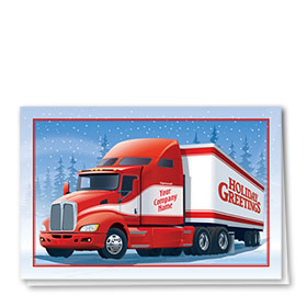 Trucking Christmas Cards - Holiday Stripes