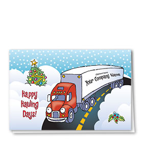 Trucking Christmas Cards - Round the Bend
