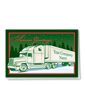 Trucking Christmas Cards - Green Greetings
