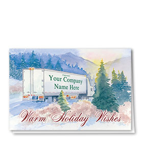 Trucking Christmas Cards - Mountain Express
