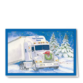 Trucking Christmas Cards - Blizzard Express