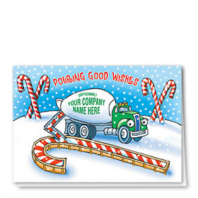 Construction Christmas Cards - Pouring Good Wishes