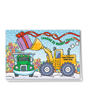 Trucking Christmasd Greeting Cards - Loading Holiday Cheer