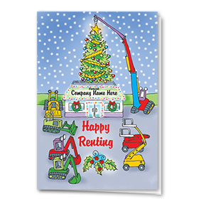 Construction Christmas Cards - Happy Renting