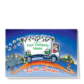 Trucking Christmas Cards - Santa's New Delivery