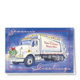 Construction Christmas Cards - Festive Refuse