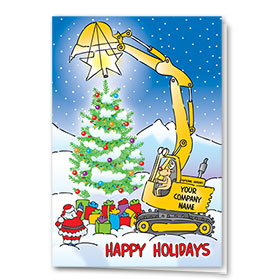 Construction Christmas Cards - Holiday Star
