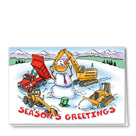 Construction Christmas Cards - Frosty Construction