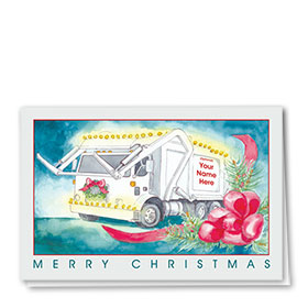 Construction Christmas Cards - Glowing Refuse