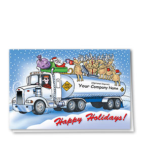 Trucking Christmas Cards - Egg Nog Tanker
