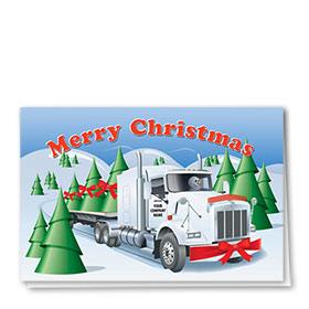 Trucking Christmas Cards - Frosty's Flatbed