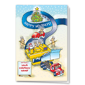 Construction Christmas Cards - Happy Paving