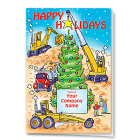 Construction Christmas Cards - Holiday Worksite