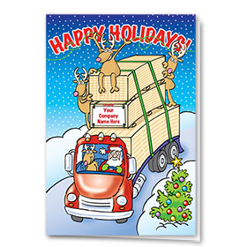 Construction Christmas Cards - Santa's Lumber