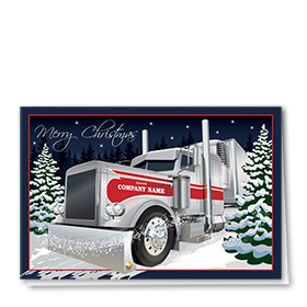 Trucking Christmas Cards - Indigo Christmas