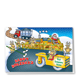 Construction Christmas Cards - Reindeer Paving - 2