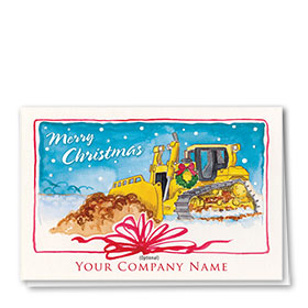 Construction Christmas Cards - Dozer Gift