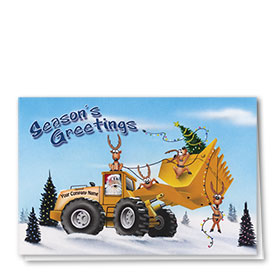 Construction Christmas Cards - Spirited Loader