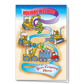 Construction Christmas Cards - Construction Ribbon