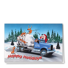 Holiday Card-Mixed Up Reindeer