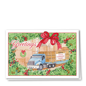 Construction Christmas Cards - Lumber Greetings