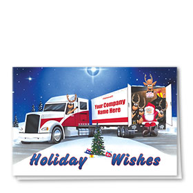 Holiday Card-Reindeer at the Wheel