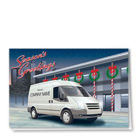 Trucking Christmas Cards - Season's Delivery
