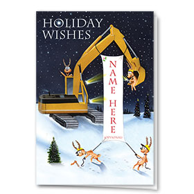 Holiday Card-Banner in Lights
