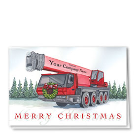 Holiday Card-Crimson Crane